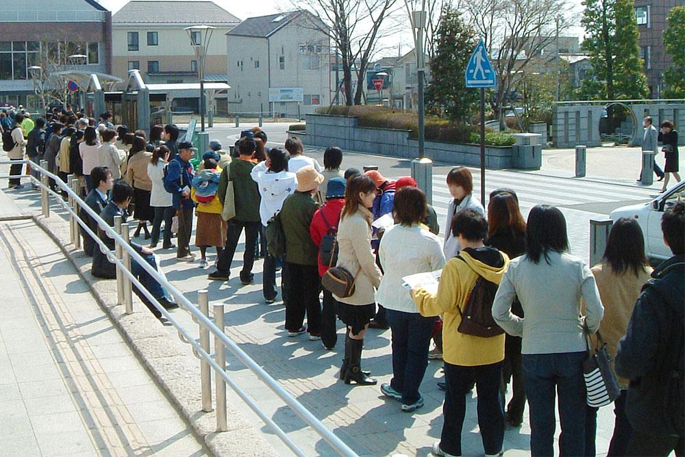 日本人は列を作るのが好き